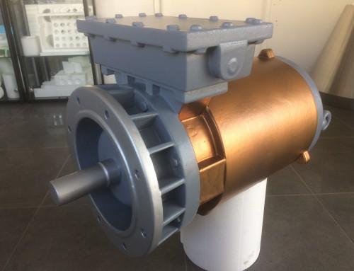 3D blowup industriële elektromotor voor Combimac
