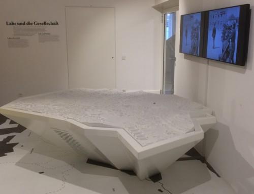 3D gefreesde Maquette tafel Museum Stadt Lahr DUI